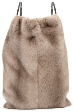 Shop for Mink Fur Drawstring Backpack w/Monili Straps, Gray by Brunello Cucinelli at ShopStyle. Now for Sold Out.