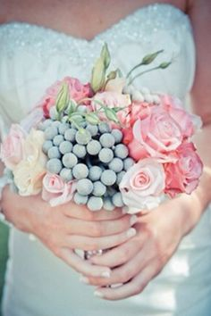 Berries + rose bunches bouquet