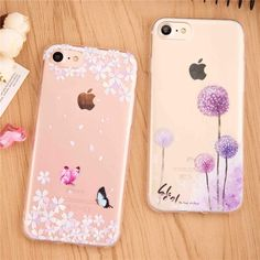 Butterflies, Dandelions, Feathers and More Clear Silicone Soft Case