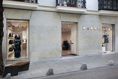 The traditional facade dictated the exterior appearance of the Marni Madrid flagship. By creating a simple and elegant interior design we have fused the characteristic Marni aesthetic with the predetermined shop exterior ensuring fluidity between the two. Every element of the store has been optimised, considered and designed. Marni, Facade, Two By Two, Exterior, Traditional, Interior Design, Elegant, Store, Simple