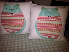 homemade cushions (front)