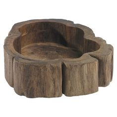 KITCHEN COUNTER TOP FOR KEYS Accent Decor Ceramic Bowl - Bark Wood