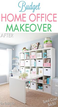 Budget Home Office / Craft Room Makeover