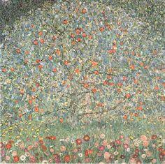 Pomme Tree01 (1912), huile de Gustav Klimt (1862-1918, Austria)
