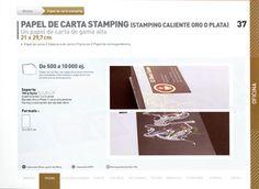 Papel de carta Stamping