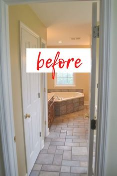 My husband just finished remodeling a master bathroom for a client of his. The results are gorgeous! The bathroom got a complete overall, including removing a corner tub and rearranging the… More Painting Bathroom Cabinets, Apartment Needs, Luxury Vinyl Tile Flooring, Granite Vanity Tops, Corner Tub, Amazing Bathrooms, Fixer Upper, Master Bathroom, Diy Home Decor