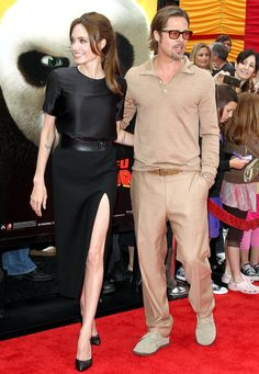 Angelina Jolie-Brad Pitt in Tom Ford Angelina And Brad Pitt, Brad And Angie, Celebrity Couples, Celebrity Style, Jolie Pitt, Stylish Couple, Celebrity Red Carpet, Star Wars, Thing 1