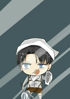 Chibi Cleaning Levi Lockscreen