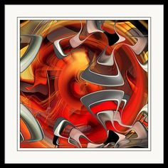Framed Print featuring the digital art Deep Within - U09 by rd Erickson