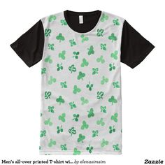 Men's all-over printed T-shirt with clover leaves