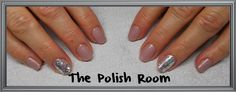 sooooo pretty, nude nails, natural nails, gel polish, nailart, silver holo, love,