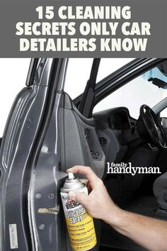 Car Cleaning Hacks, Household Cleaning Tips, Car Hacks, House Cleaning Tips, Diy Cleaning Products, Cleaning Solutions, Automotive Detailing, Car Detailing, Clean Your Car
