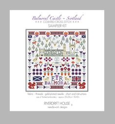 BALMORAL CASTLE Counted Cross Stitch by RiverdriftNeedlework, £12.95