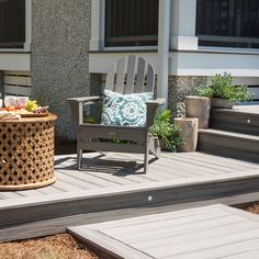 Pebble Gray Select Trex Deck With Winchester Gray Trim