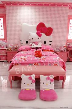#HelloKitty Bed