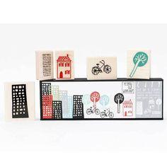 City Scenic Stamp Set