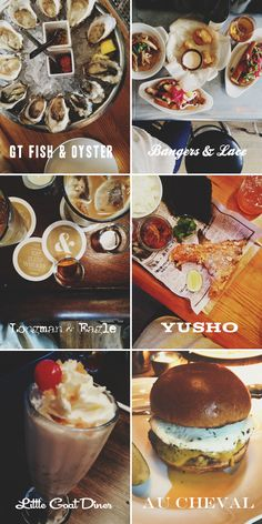 Best of Chicago Tour - GT Fish + Oyster: oysters and clam chowder | Bangers + Lace: cheese curds, sausages, saison | Longman + Eagle: whiskey and coffee on tap | Yusho: hamachi collar | Little Goat Diner: smoked pork + toffee crunch milkshake | Au Cheval: cheeseburger with a fried egg