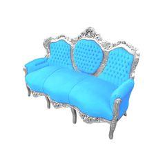 turquoise velvet chair | ... furniture > Baroque Sofa > Baroque sofa…