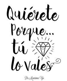 Positive Phrases, Positive Messages, Positive Mind, Positive Vibes, Valentine's Day Quotes, Quotes To Live By, Spanish Quotes, Quote Of The Day, Hand Lettering