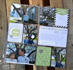 Stampin Up & Project Life ... Everyday Adventure ... AWW May - Cherry Blossom PL