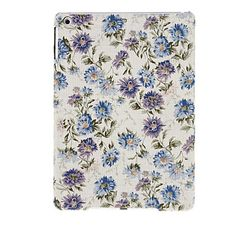 Item 572  This textile feel back cover for your iPad Air come with a beautiful pattern of blue and purple flowers. It looks great and gives you a firm grip on your precious iPad Air!  -Compatibility	iPad Air -Features	Back Cover -Material	Textile -Style	Special Design -Color	Assorted Colo...