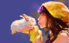Bunny, Girl, Kiss