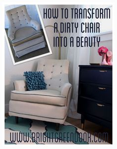 How to Transform a Dirty Chair into a Beauty