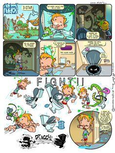 Alan Alien - Pagina 15 - Publicada en la revista infantil PIN - Guion & Arte (realizado de forma digital)