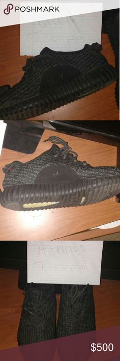 Adidas yeezy 350 boost Pirate black 2016 release Adidas Shoes Athletic Shoes