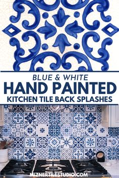Mizner Tile Studio offers blue and white handcrafted tiles for home design for kitchen backsplashes, floors, and outdoor spaces. Our gallery offers inspiration for many hand painted tile design patterns in Spanish, Mediterranean, and historic ceramic tile options. #miznertilestudio #tile #homedesign
