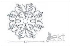 Crochet Flower - Pattern ❥ 4U // hf