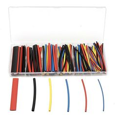 160pcs 2:1 Polyolefin H-type Heat Shrink Tube Sleeving 4 Colors 6size. Description :   160pcs 2 : 1 Polyolefin H-type Heat Shrink Tube Sleeving 4 Colors 6Size  Specification :   Length : 100mm This listing is for a factory boxed assortment of 160 100mm pieces of Polyolefin Heat Shrink Tubing.   This product has a 2 : 1 shrink ratio and is both UL & CSA certified for up to 600V @125 Degree Centigrade.   Product is also RoHS Compliant.   Colors : Black, Blue, Red, Yellow. Big collection of…