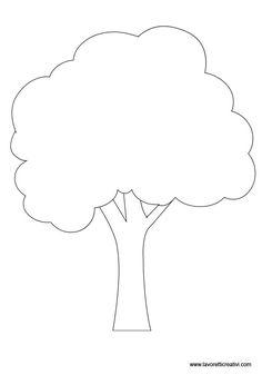 Sagome alberi per lavoretti in sagome lavoretti