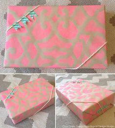 Fun stenciled wrapping paper idea!