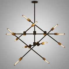 Restoration Kinetic Chandelier Light Ceiling Lamp Home Lighting Fixture Chandelier Lamp Shades, Chandelier Ceiling Lights, Glass Chandelier, Ceiling Lamp, Track Lighting Fixtures, Garage Lighting, Ceiling Light Fixtures, Home Lighting, Room Lamp