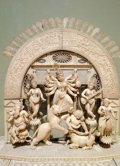 Durga Maa, Durga Goddess, Shiva, Krishna, Durga Painting, Mother Goddess, Saree Dress, Hinduism, Ganesh