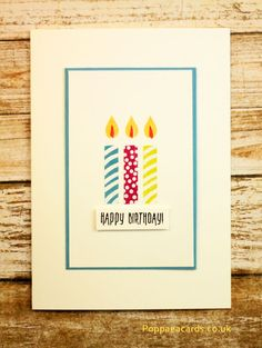 Using Stampin' Up! Picture Perfect Birthday stamp set, a quick and easy CAS birthday card, with a colour combination that pops off the card.