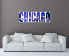 Chicago City Skyline 2 Panoramic Wall Decal by oOKimsKreationsOo Starting at $24.99!