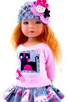 "~Ooh La La Kitties!~Outfit for 13"" Effner Little Darling by Sharon"