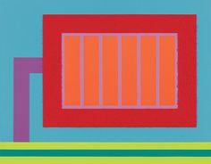 PETER HALLEY http://www.widewalls.ch/artist/peter-halley/  #abstractart  #hardedgepainting  #installation  #minimalart  #neoconceptualart