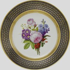 Sevres Plate with flowers Floral Painting
