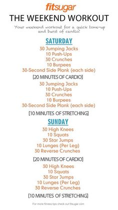 Great Weekend Workout Plan