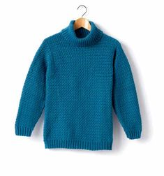 Child's Crochet Turtle Neck Pullover in Caron Simply Soft - Downloadable PDF. Discover more patterns by Caron at LoveKnitting. The world's largest range of knitting supplies - we stock patterns, yarn, needles and books from all of your favourite brands.