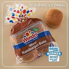 "Hamburger Bun Winner  And the winner of the hamburger bun category is:    Wonder Wheat Hamburger Buns  Per bun: 110 cal., 1.5 g total fat (0 g sat. fat), 220 mg sodium, 21 g carb., 2 g fiber    Taster's comment: ""Good height and structure. Soft, with a hint of sweetness."""