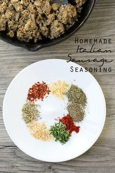own Italian sausage at home with this homemade italian sausage seasoning recipe. Add these savory spices to turkey, pork or beef and have delicious Italian sausage ready for pizzas, meatballs, spaghetti or your favorite Italian dish. Italian Sausage Spices, Homemade Italian Sausage, Italian Sausage Recipes, Mild Italian Sausage Seasoning Recipe, Breakfast Sausage Seasoning, Homemade Italian Seasoning, Hot Sausage, Turkey Recipes, Homemade Spices