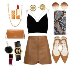 Sin título #7 by pauverstegui on Polyvore featuring polyvore, fashion, style, River Island, Jimmy Choo, Tory Burch, The Case Factory, Linda Farrow, Tom Ford and clothing