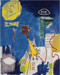 By Jean Michel Basquiat (1960-1988), 1984, Pakiderm, Acrylic, Private collection.