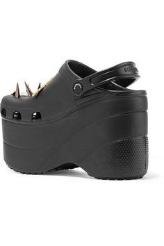 d0efd3c31c7a Balenciaga - + Crocs embellished rubber platform sandals