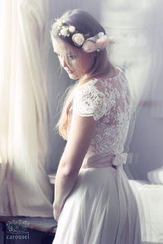 Blush wedding dress // Fleur // 2 pieces