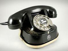 Splendid Mid Century Belgium Bell Telephone with Chrome Dial